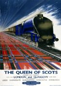 The Queen of Scots. BR Vintage Travel Poster by Reginald Mayes. c1950